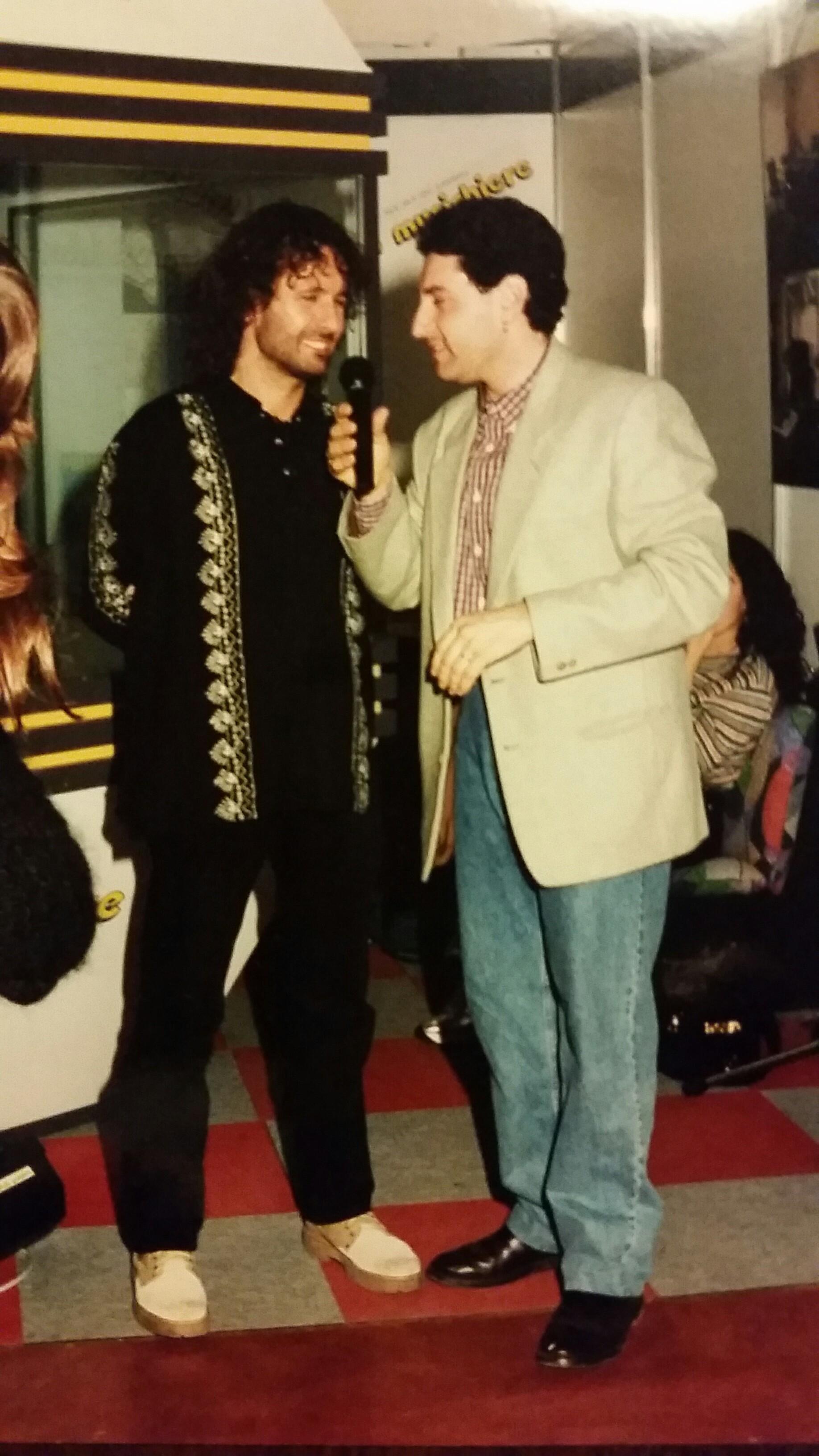 2000 - In fiera Marino Mariani con Drudi