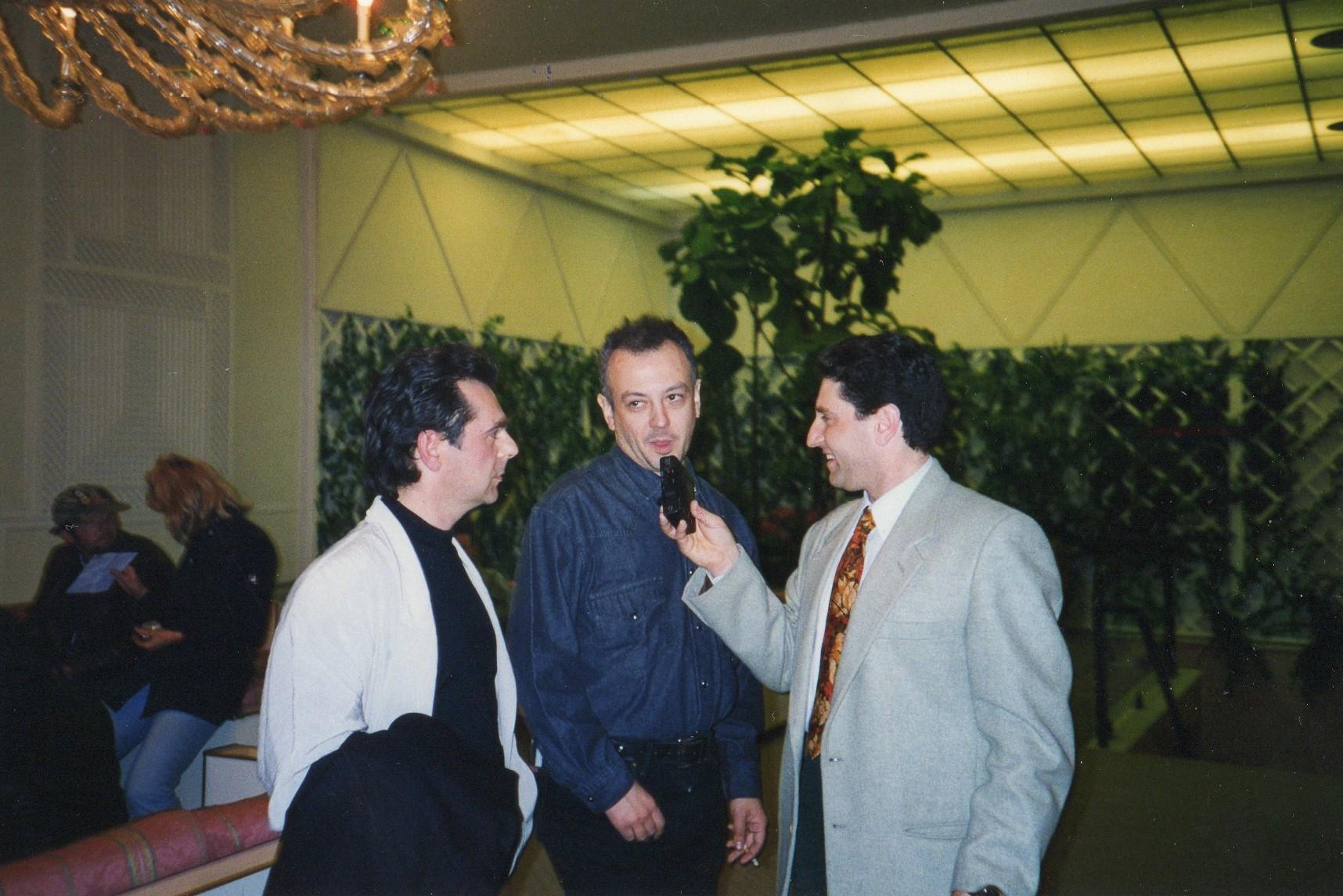 Marino Mariani con Enrico Ruggeri